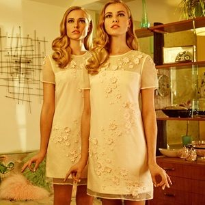Ted Baker 'Findon' Embellished Silk Organza Dress